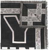 Twin-Set typography fringed scarf - women - Cotton - One Size