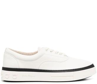 Salvatore Ferragamo Contrast Stripe Low-Top Sneakers