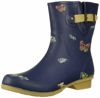 Chooka Women's Mid-Height Printed Rain Boot with Memory Foam Calf