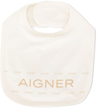 Aigner Kids Logo Print Stretch Bib