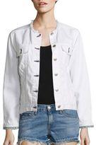 Rag & Bone Frayed Collarless Denim Jacket