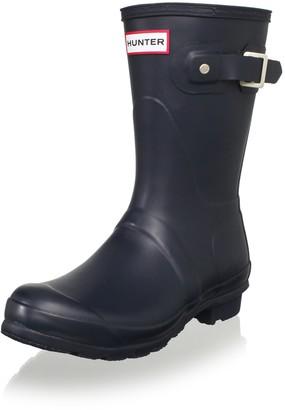 Hunter Women's original short wellington boots Navy W23758 5 UK