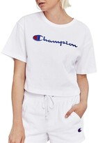 Champion Cropped Script Tee
