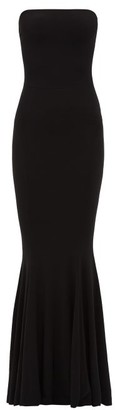 Norma Kamali Strapless Technical-jersey Fishtail Dress - Black