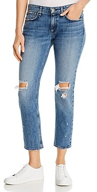 Rag & Bone Dre Low-Rise Ripped Boyfriend Jeans in Star City