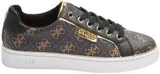 GUESS Banq4 Brown/Black/Oro Brmll Sneaker