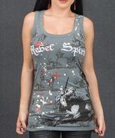 Rebel Spirit Gray Unicorn 'Rebel Spirit' Tank - Women