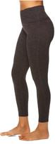 Gaiam Women's Leggings ASPHALT - Asphalt Heather Om 26'' 7/8 High-Waist Leggings - Women