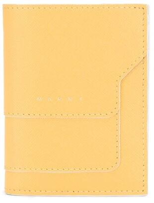 Marni Yellow Calf Leather Folded Wallet