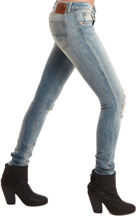 R 13 Skinny Jean Distressed