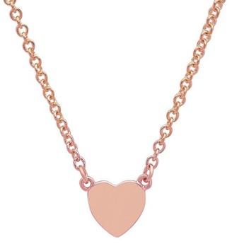 Established Heart Charm Choker Rose Gold Necklace