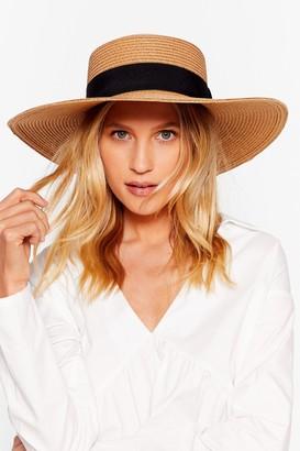 Nasty Gal Womens Throwin' Shade Straw Boater Hat - Tan