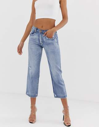 Blank NYC Empoty Threat mom jeans-Blue