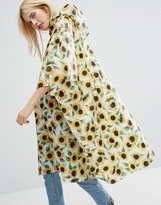 Monki Sunflower Foldable Poncho