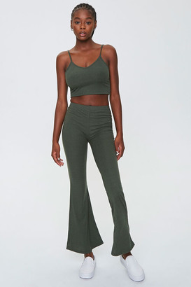 Forever 21 Ribbed Cropped Cami Pants Set