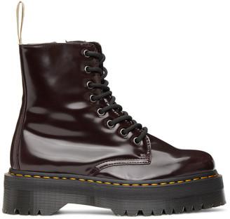 Dr. Martens Burgundy Vegan Jadon 2 Platform Boots
