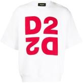 DSQUARED2 D2 printed boxy T-shirt