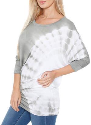 WHITE MARK White Mark-Womens Boat Neck 3/4 Sleeve T-Shirt