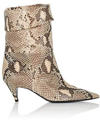 Saint Laurent Women's Charlotte Python Ankle Boots