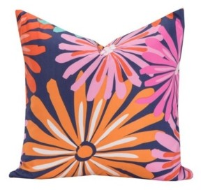 "Crayola Dreaming of Daisies 26"" Designer Euro Throw Pillow"