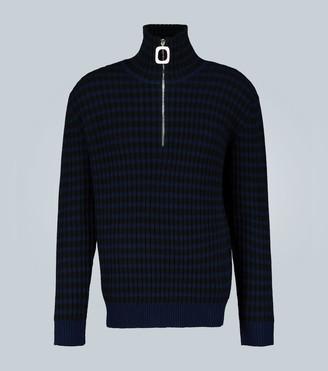J.W.Anderson Neckband striped cashmere sweater