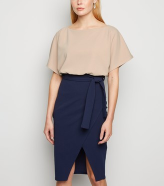 New Look Missfiga Contrast Batwing Dress