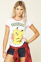 Forever 21 FOREVER 21+ Pikachu Ringer Tee