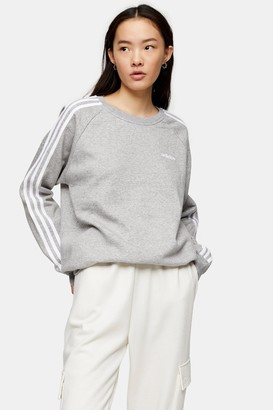 adidas Womens Grey Boyfriend Sweatshirt By Grey