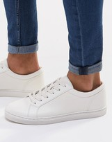 Asos Lace Up Trainers In White