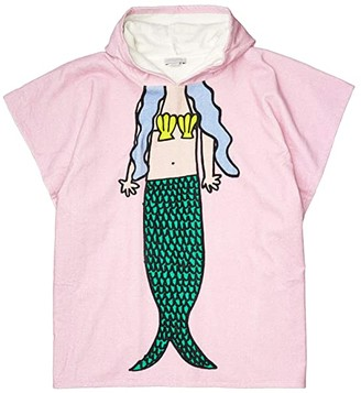 Stella McCartney Hooded Towel with Mermaid - Large (Pink) Bath Towels