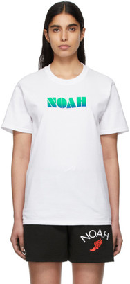 Noah NYC White Gradient Logo T-Shirt