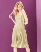 Yumi Sparkly Pleated Party Dress