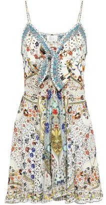 Camilla The Butterfly Effect Embellished Silk Crepe De Chine Mini Dress