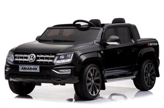 Kool Karz 2-Seater Volkswagen Amarok Electric Ride On Toy Car (Black)