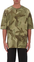 Yeezy Men's Abstract Camouflage-Print T-Shirt-GREEN, DARK GREEN