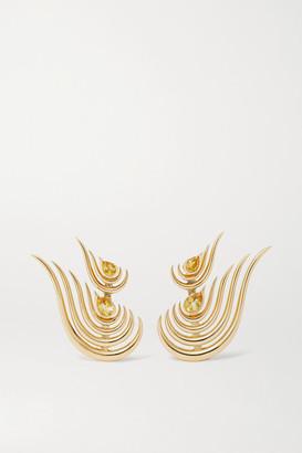 Fernando Jorge Beacon 18-karat Gold Citrine Earrings