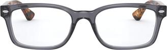 Ray-Ban Women's Rx5286 Square Eyeglass Frames Prescription Eyewear