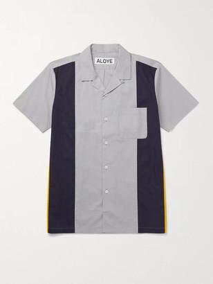 Aloye Camp-Collar Colour-Block Cotton Shirt