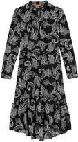 Joe Fresh Women's Print Flowy Dress, Black (Size M)