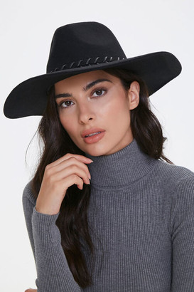 Forever 21 Whipstitched-Trim Fedora