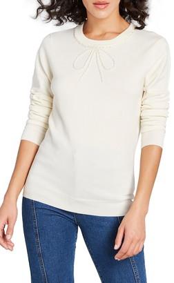 ModCloth Bow Beaded Sweater