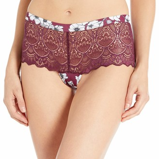 Fantasie Women's Olivia Floral and Lace Cranberry Shorty