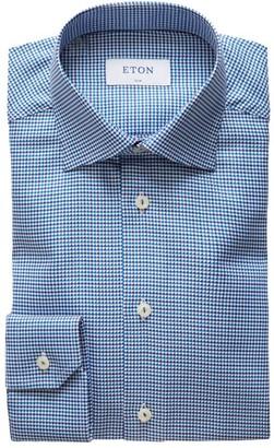 Eton Slim-Fit Houndstooth Twill Shirt
