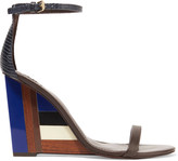 Tory Burch Leather and perspex wedge sandals