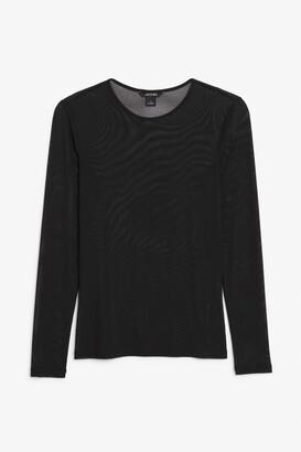 Monki Long-sleeved mesh top