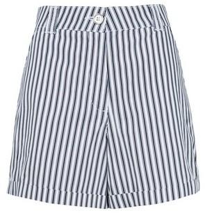 Dorothy Perkins Womens Navy Stripe Print Shorts, Navy