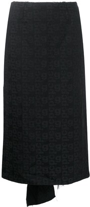Comme des Garcons Embroidered Midi Skirt