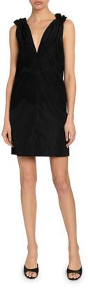 Givenchy Lace-Trim Silk Taffeta Shift Dress