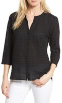 Eileen Fisher Women's Check Textured Blouse