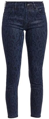 Joe's Jeans Charlie Python-Print Skinny Ankle Jeans